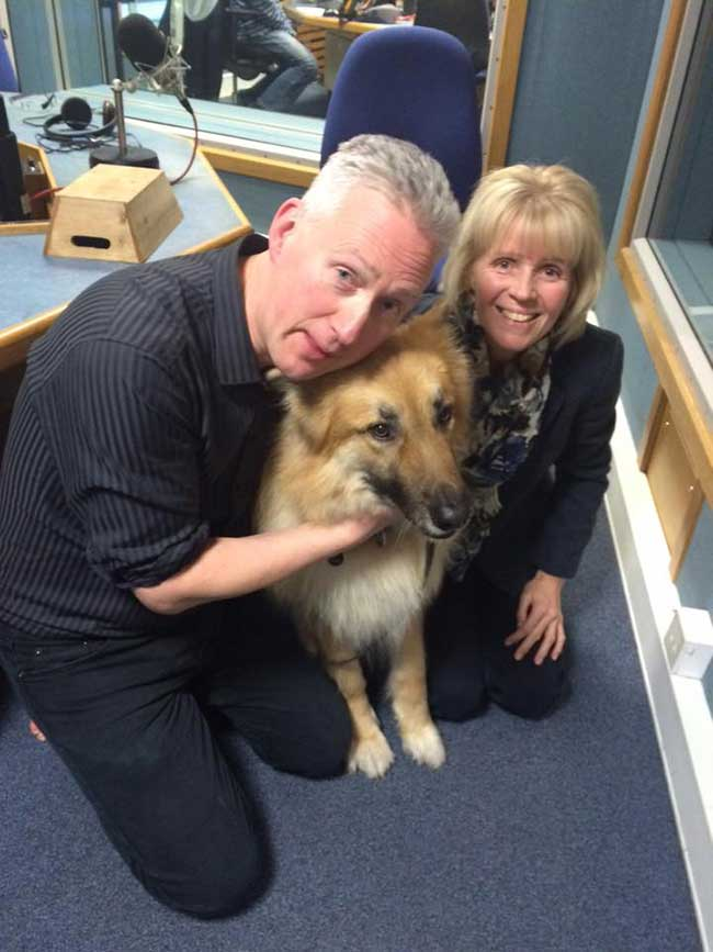 Jackie & Teddy at BBC Radio